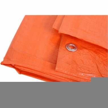 Oranje grote dekzeilen 10 x 12m.