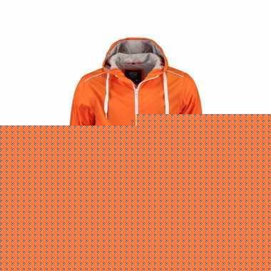 Oranje heren jasje met caouchon nylon