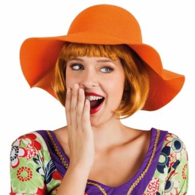 Oranje hippie flaphoed