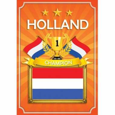 Oranje holland deurposter