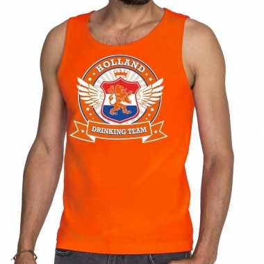 Oranje holland drinking team rwb tankop / mouwloos shirt heren