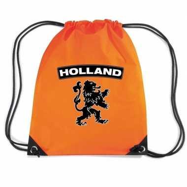 Oranje holland zwarte leeuw rugzak