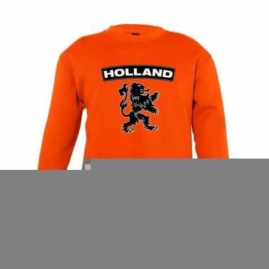 Oranje holland zwarte leeuw sweater kinderen