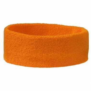 Oranje hoofd zweetbandje sport