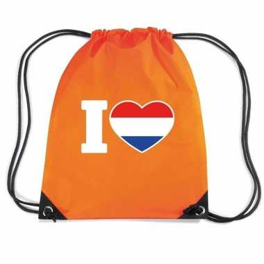 Oranje i love holland rugzak