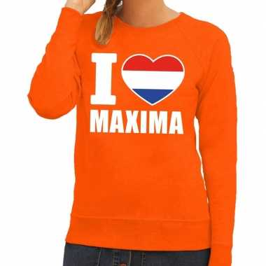 Oranje i love maxima sweater dames
