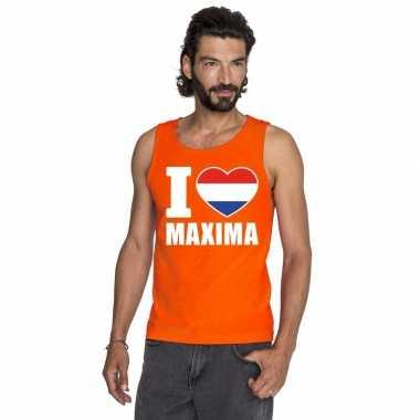 Oranje i love maxima tanktop heren