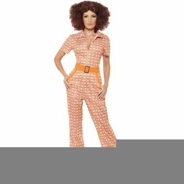 Oranje jaren 70 kostuum voor dames