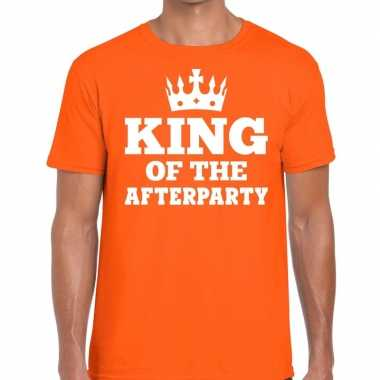 Oranje king of the afterparty shirt heren