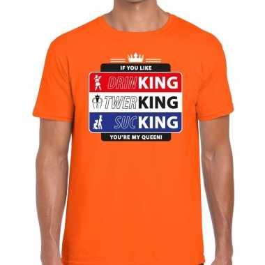 Oranje kingsday if you like shirt voor heren