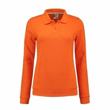 Oranje kleding dames sweater