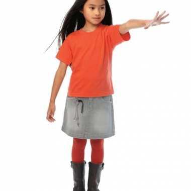 Oranje kleur tshirts voor kinderen