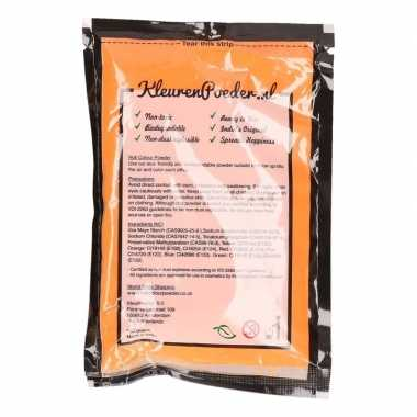 Oranje kleurenpoeders 100 gram