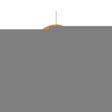 Oranje klokken van papier 30 cm