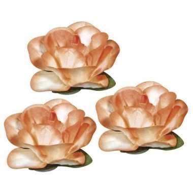Oranje knutsel bloemetjes 1,5 cm