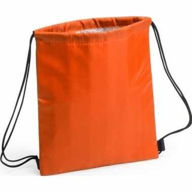 Oranje koeltas rugzak 27 x 33 cm