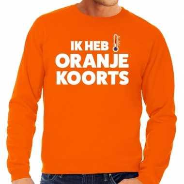 Oranje koningsdag oranje koorts sweater heren