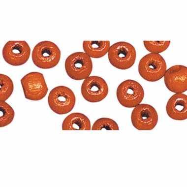 Oranje kralenset 52 stuks