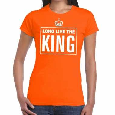 Oranje long live the king engels t-shirt dames