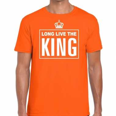 Oranje long live the king engels t-shirt heren