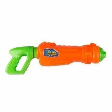 Oranje met groen waterpistool 44 cm