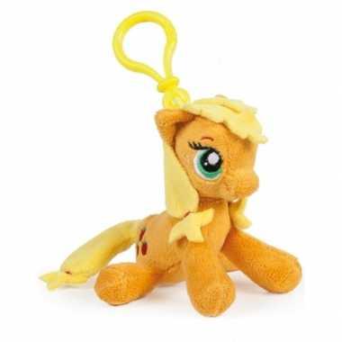 Oranje my little pony schoenkado sleutelhanger 12 cm