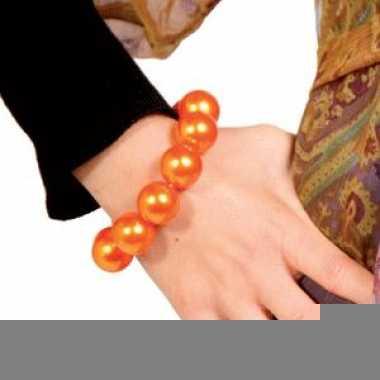 Oranje parel armbanden
