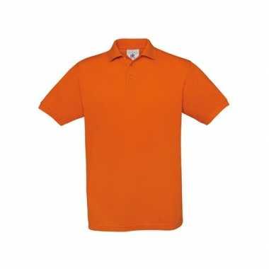Oranje polo shirts met korte mouwen