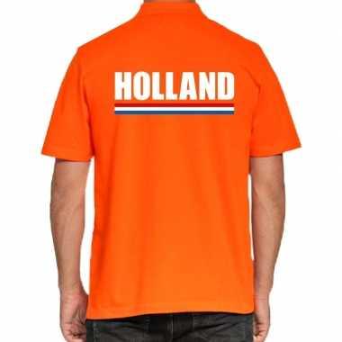 Oranje poloshirt holland voor heren