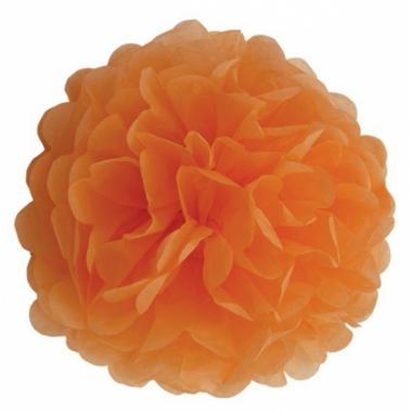 Oranje pompom versiering 25 cm