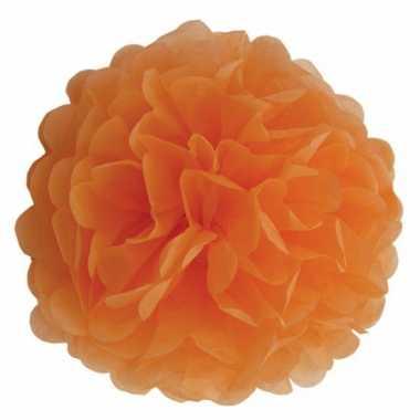 Oranje pompom versiering 35 cm