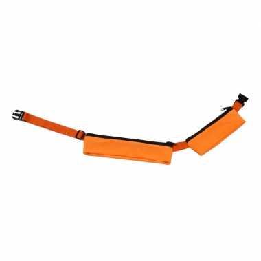Oranje reis heuptas met 2 vakjes 80-107 cm