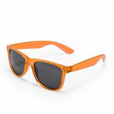 Oranje retro model zonnebril voor volwassenen