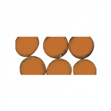 Oranje ronde mozaiek steentjes