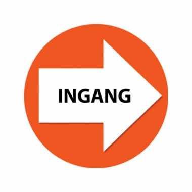 Oranje route aanduiding stickers ingang