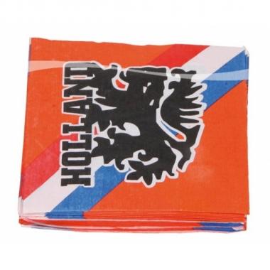 Oranje servetten leeuw 33 cm