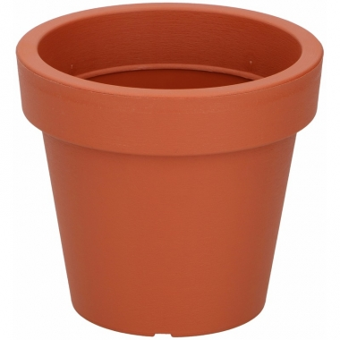 Oranje sierpot 13 cm voor binnen of buiten