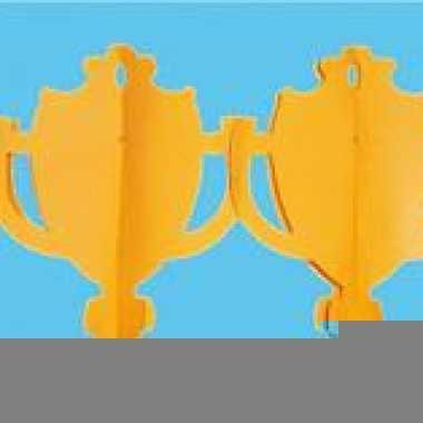 Oranje slinger met cups 4 meter