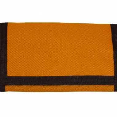 Oranje stoffen portemonnee