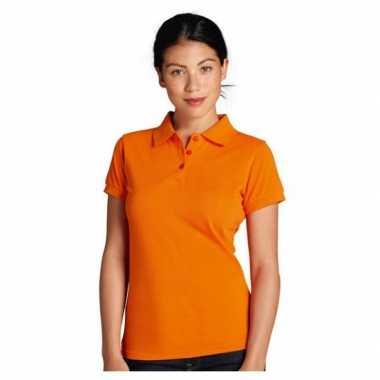 Oranje supporter dames poloshirts