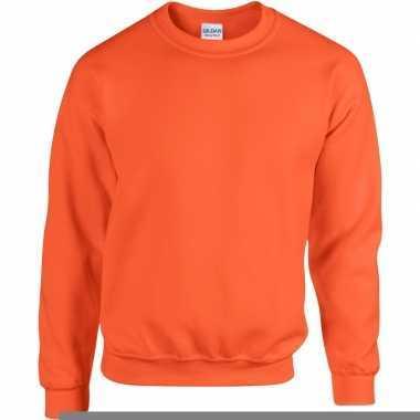 Oranje sweater gildan
