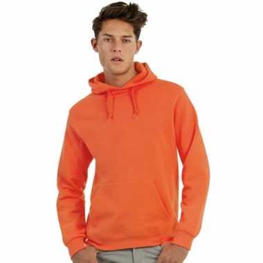 Oranje sweaters met capuchon