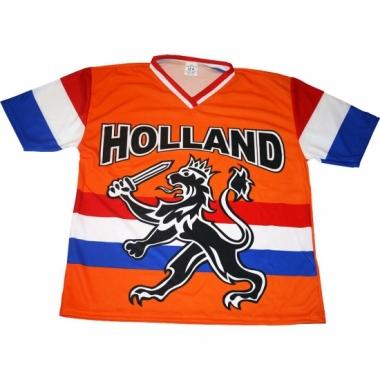 Oranje t-shirt met leeuw en hollandse vlag