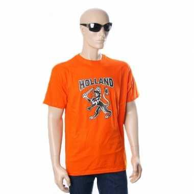 Oranje t-shirt met leeuw