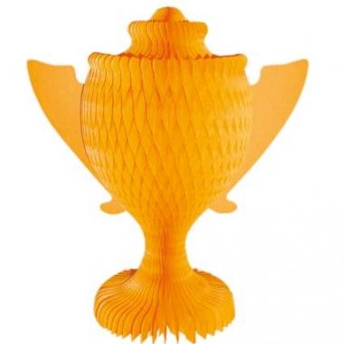 Oranje versiering beker