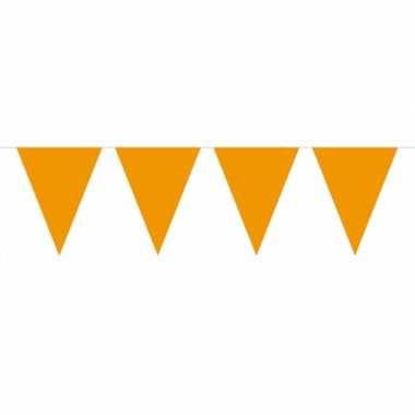 Oranje vlaggentjes slinger 10 meter