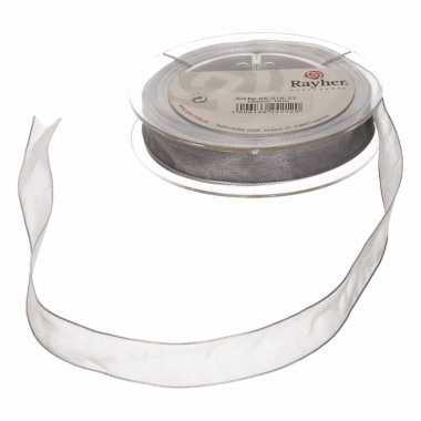 Organza linten zilver