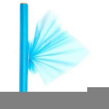 Organza tule rol turquoise 40 x 200 cm