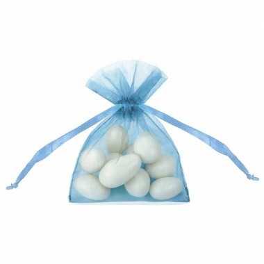 Organza zakjes in blauwe kleur 10 cm