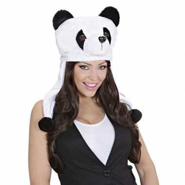 Originele panda muts voor volwassenen